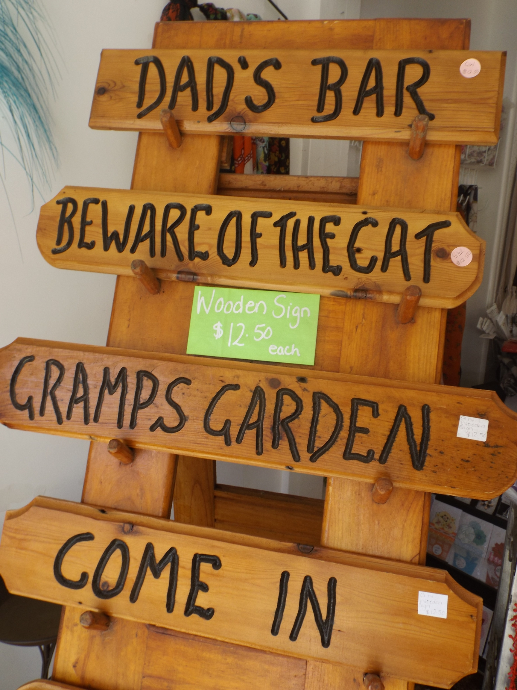 Shared Shop Wooden Signs