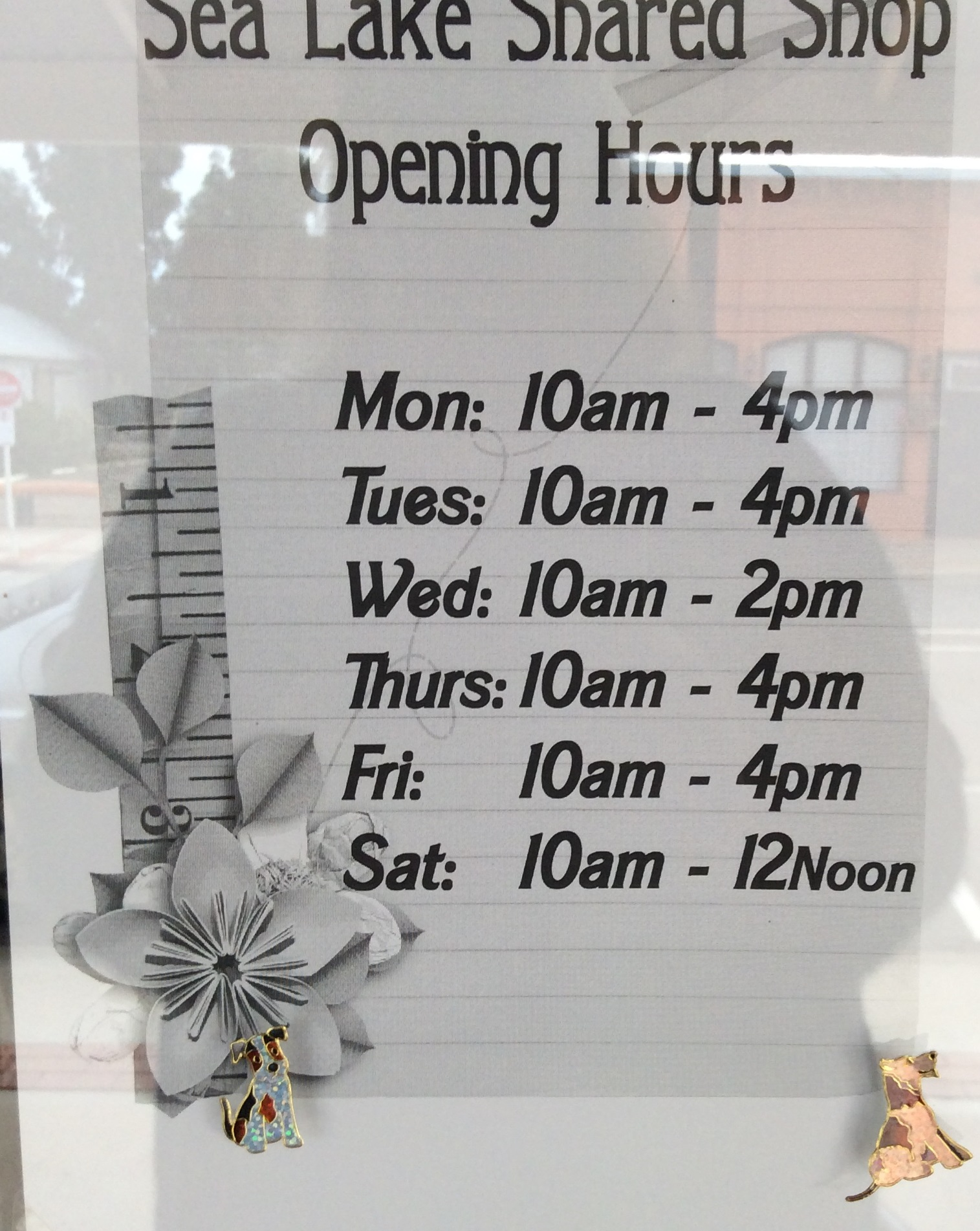 Shared Shop Opening Hours